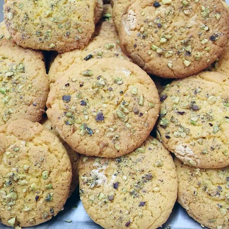 Μπισκότα αμυγδάλου με φυστίκια Αιγίνης