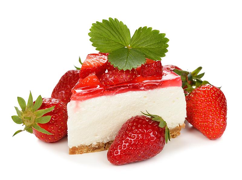 Cheesecake με κατίκι Δομοκού, μαστίχα και φράουλες