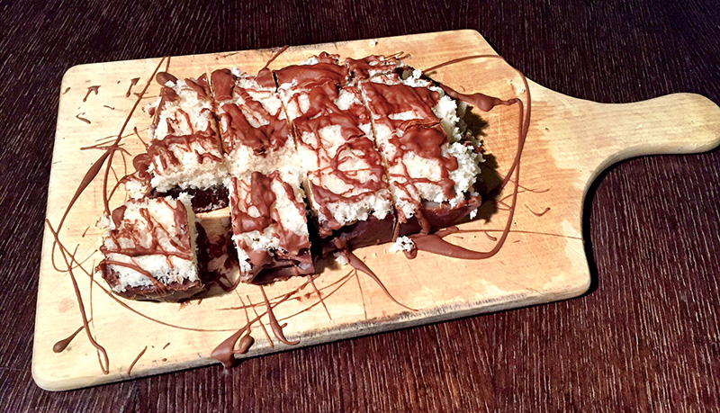 Chocolate bars με καρύδα