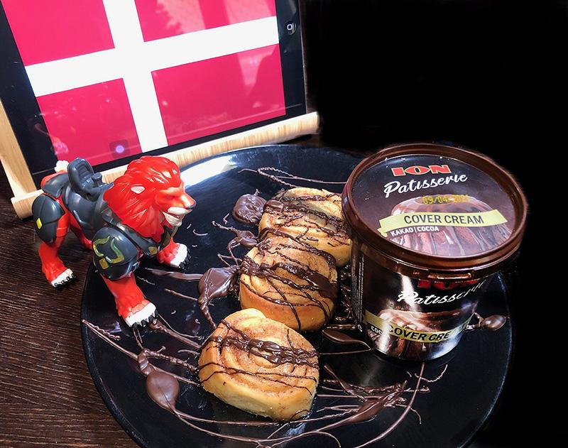 Cinnamon rolls με ΙΟΝ Patisserie Cover Cream