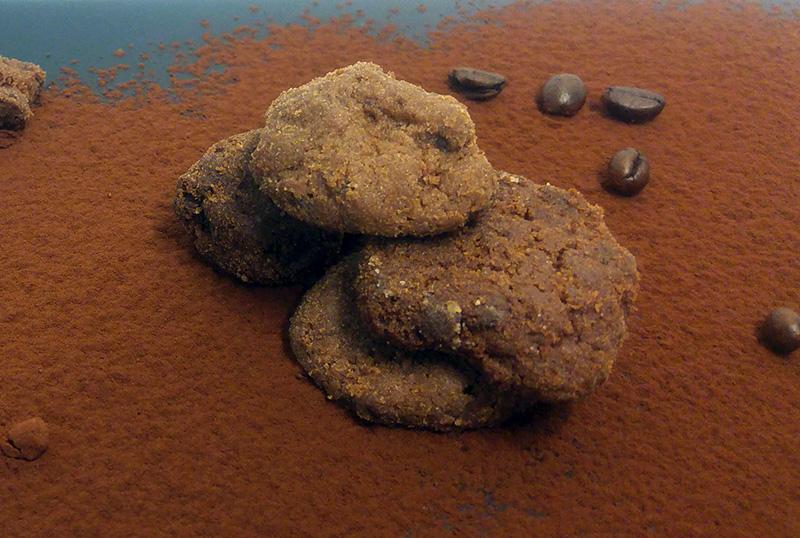 Cookies με κακάο ΙΟΝ, καφέ και αλεύρι Ζέας