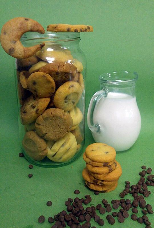 Cookies με σταγόνες κουβερτούρας υγείας ΙΟΝ