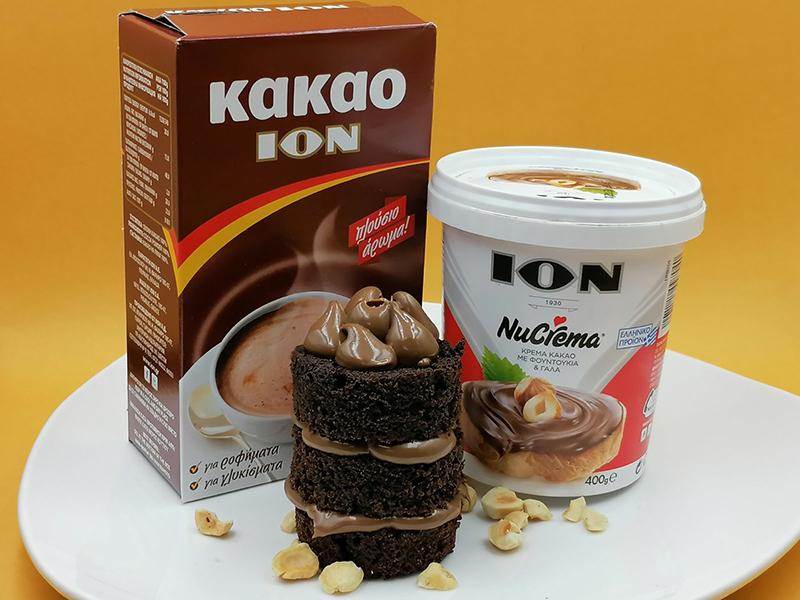 Cupcakes με ION Kακάο και ΙΟΝ Nucrema