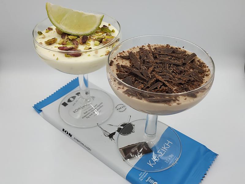 Κρέμα με λευκή σοκολάτα ή κλασική κουβερτούρα ΙΟΝ