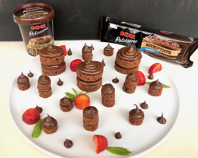 Mini Brownies με σοκολάτα