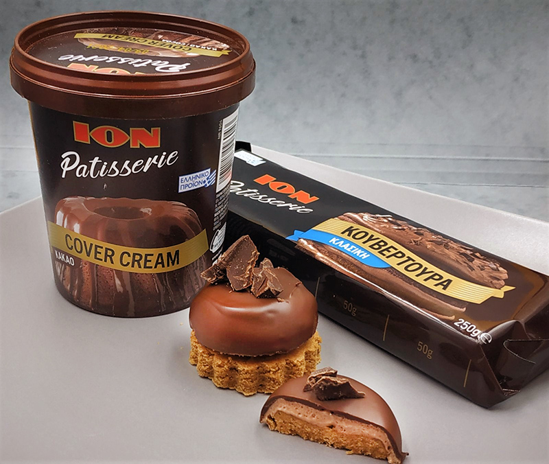 Mους σοκολάτας με ΙΟΝ Patisserie Κουβερτούρα κλασική και ΙΟΝ Patisserie Cover Cream