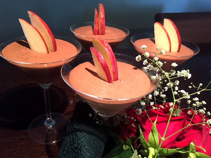 Mousse σοκολάτας με καρύδα, κακάο και Nucrema ΙΟΝ