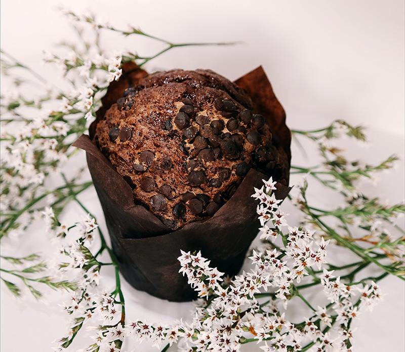 Muffins σοκολάτας με σταγόνες σοκολάτας