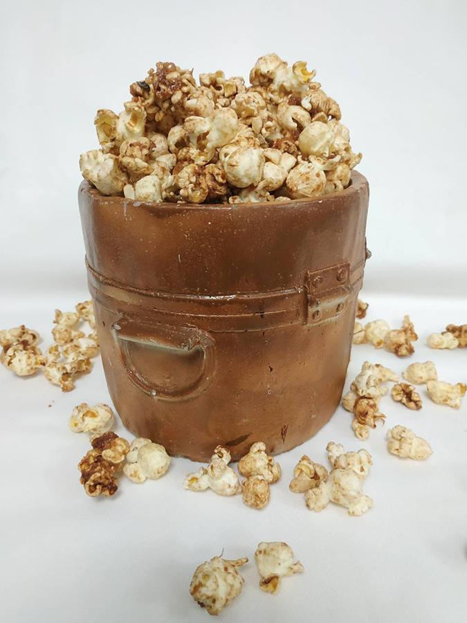 Pop corn με Nucrema και κουβερτούρα γάλακτος ION