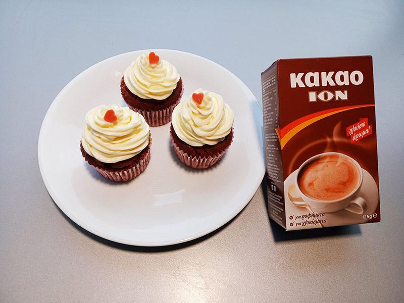 Red velvet cupcakes χωρίς γλουτένη