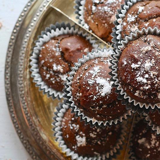 Muffins με ταχίνι