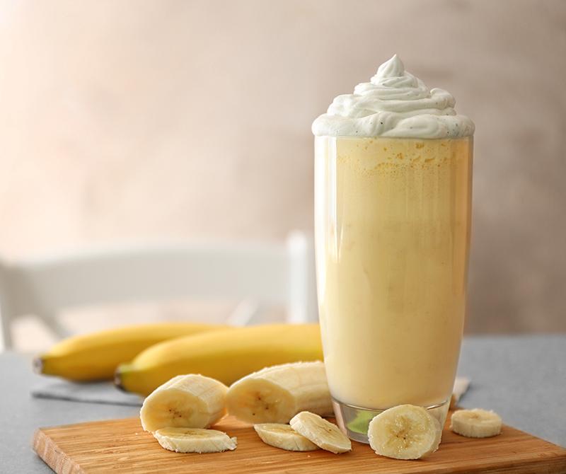 Vegan milkshake μπανάνας