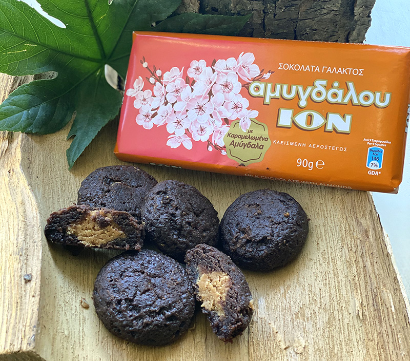 Soft Cookies με ION Αμυγδάλου Γάλακτος με καραμελωμένα αμύγδαλα