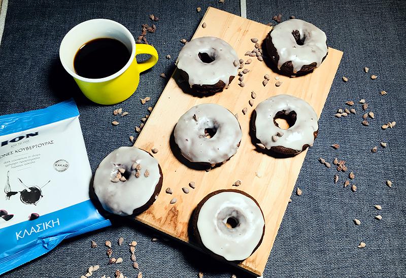 Vegan donuts σοκολάτας